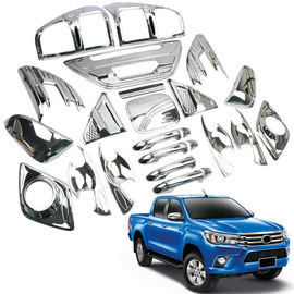 China Eco Friendly Plastic Car Chrome Kit Sliver And Black Color For Hilux Revo 2015+ factory